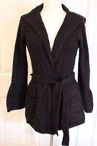 Wang Kvinders Sweater Bell Wrap Vera Simpelthen Cardigan Sleeves Acryl Sort S p5xfPAWq