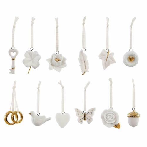 Hallmark Keepsake 12 piece Wedding Wishes Mini Ornament Set