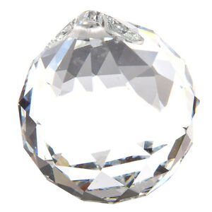 40MM-Feng-Shui-Faceted-Decorating-Crystal-Pendant-Ball-Clear-LW
