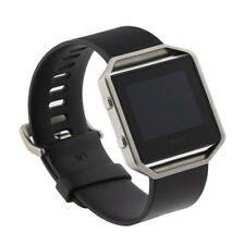 FitBit Blaze Smart Fitness Watch Large Black and Blue Bands FB502SBKL Bundle