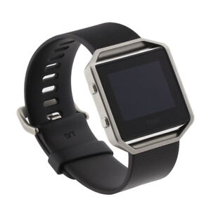 FitBit Blaze Smart Fitness Watch Large Black and Blue Bands FB502SBKL Bundle