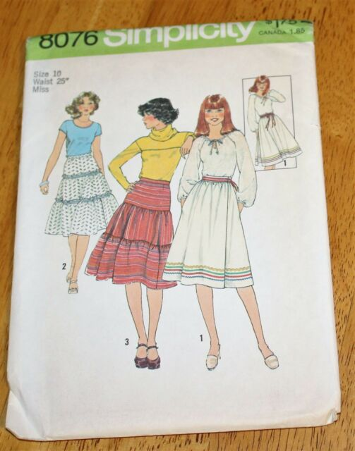 simplicity 8076 Misses Skirts Sewing Pattern Size 12 Uncut | eBay