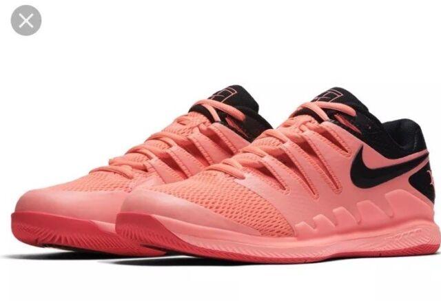 los angeles 73ebb 47c08 Nike Air Zoom Vapor X HC RF Roger Federer Lava Glow AA8030-660 Men s Size