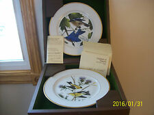 Songbirds of America First Pair 1972 John A Ruthaven Wallace Silversmith Plates