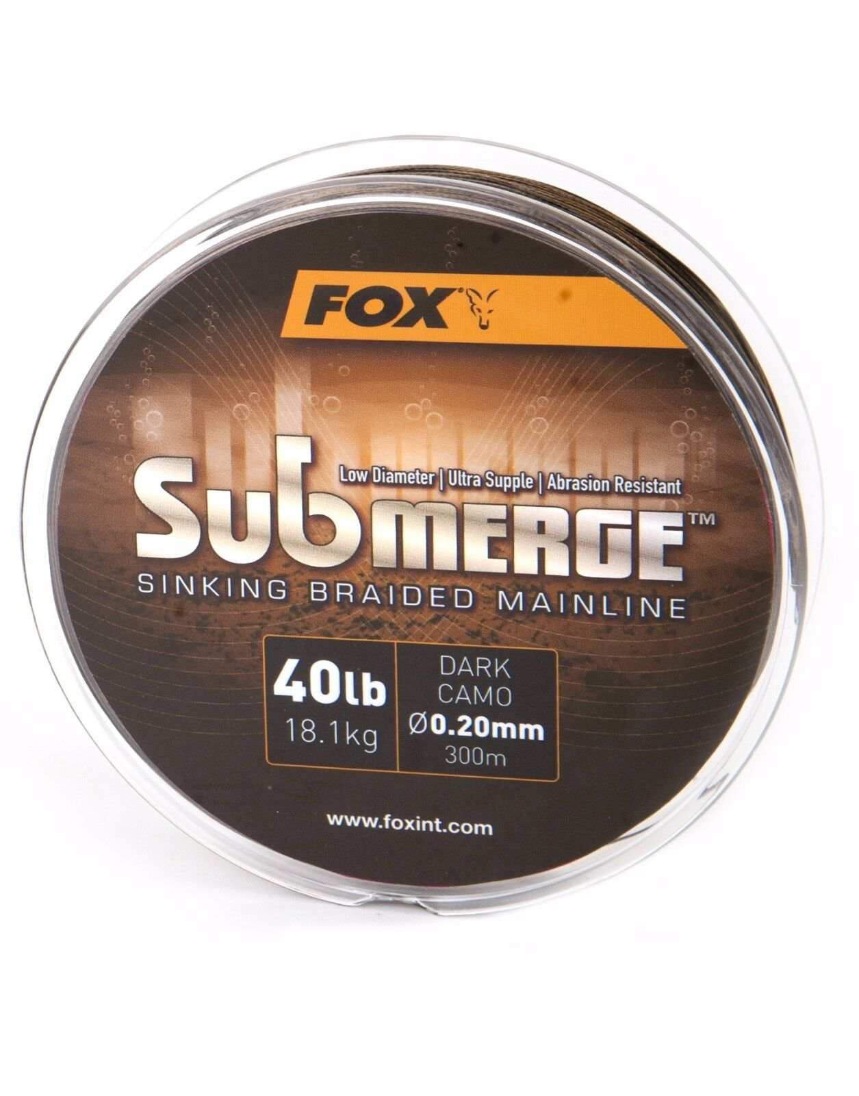 FOX SUBMERGE SINKING BRAID   BRAIDED LINE - 300M & 600M - ALL BREAKING STRENGTHS
