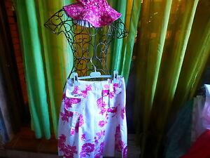 lotT1-jolie-jupe-blanche-femme-fleurs-roses-parmes-bop-coton-assorti-offert