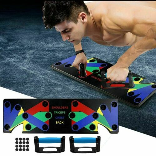Push Up Power Press Board Stand Muscle Fitness Strength Body Training Home Gym V