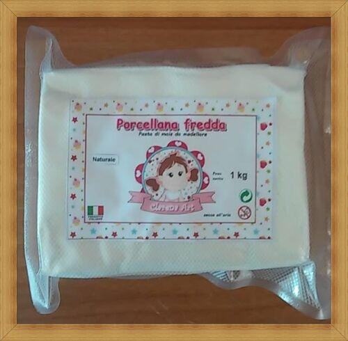 da modellare 1 kg made in italy pasta di mais Porcellana fredda