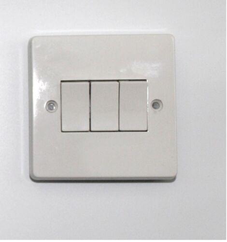 Interrupteurs /& Prises Blanc Lourd dudty Blanc Avec Inserts