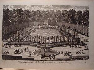 Pierre-Aveline-Gravure-Veue-De-La-Salle-des-Antiques-auf-Versailles-Gravur
