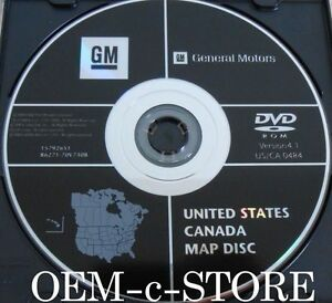 General Motors GM United States + Canada Map Disc (DVD-ROM 2007) 4.1 ...