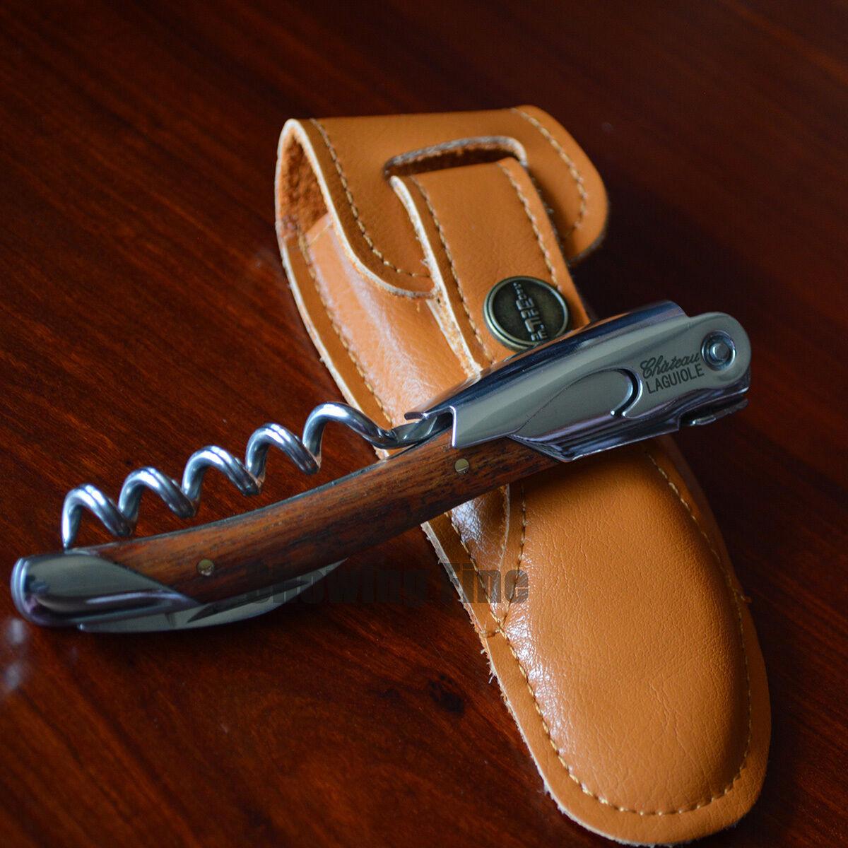 Pulltex Pulltaps Rosewood Toledo Hand Made Corkscrew with Leather Case Set