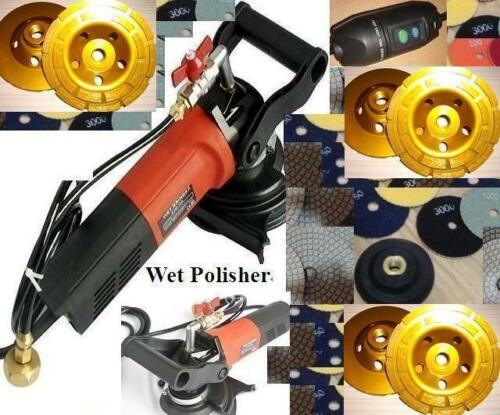 Variable Speed Wet Grinder Polisher 5 Cup 40 Pad Quartz Granite Travertine
