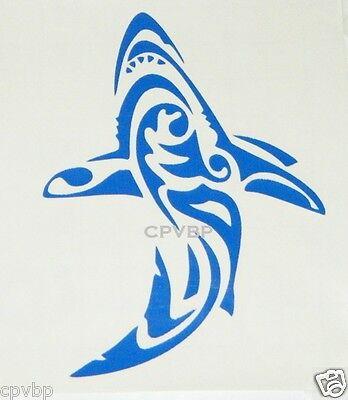 Tribal Shark decal sticker beach ocean canoe boat kayak auto