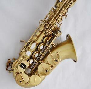 top quality matt brush gold curved soprano saxophone bb sax new with case ebay. Black Bedroom Furniture Sets. Home Design Ideas