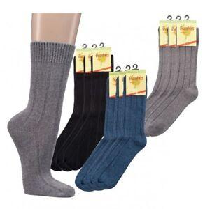 Bambus Socken Dicke Strumpfe Ripp Struktur Gr 35 46 3 6 9 12 Paar