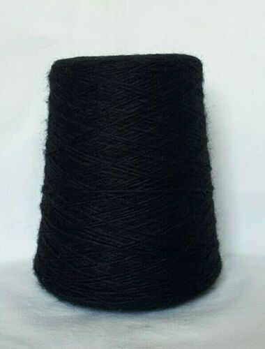 14,50€//Kg • Wolle Polyacryl • SCHWARZ • Handstrickgarn Strickwolle Kone 3995