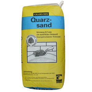 quarzsand 25 kg k rnung 0 5 mm feinsand sandkasten bausand filtersand strahlsand ebay. Black Bedroom Furniture Sets. Home Design Ideas