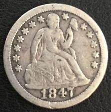 USA One DIME Silver 1847 Très belle 2,54 gr