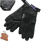 LADIES LEATHER GLOVES THERMAL FLEECE LINED BLACK DRIVING SOFT WINTER GLOVE WARM