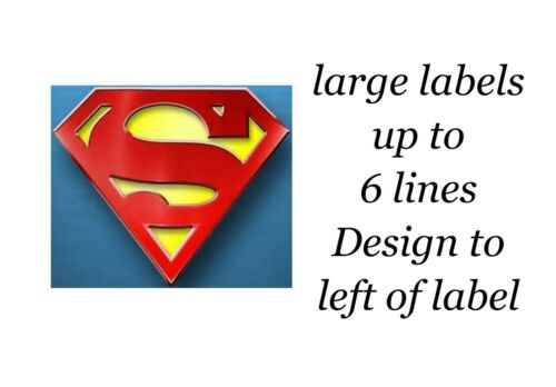 Superman Logo 48 Large Sticky White Paper Stickers Labels New