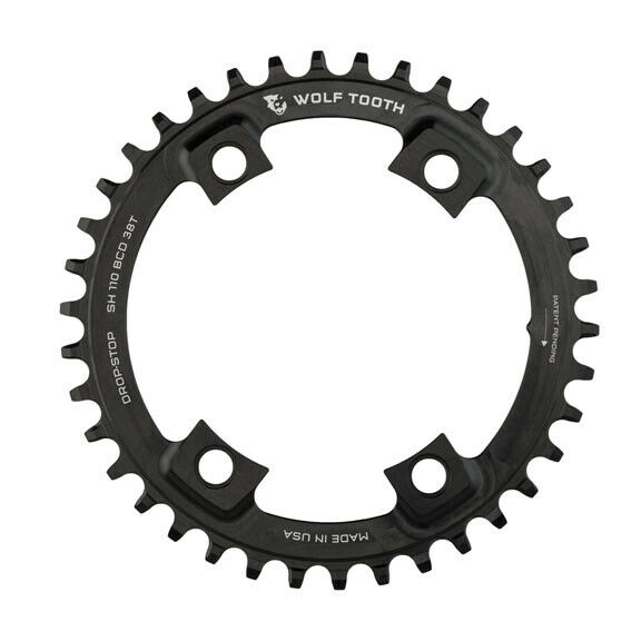 Wolf Tooth Components 38T Drop-Stop Chainring  for Shimano Road 110