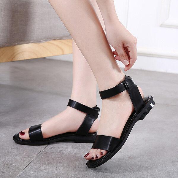 Sandales elegant low slippers colouROT schwarz studs comfortable like Leder 1081