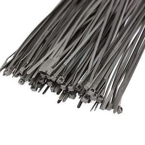 100 X BLACK CABLE TIES | ZIP TIE WRAPS 200mm X 2.5mm