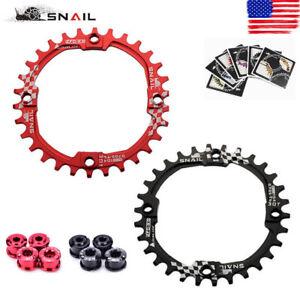 SNAIL-104BCD-30T-Chainring-amp-Bolts-MTB-Bike-Narrow-Wide-Single-Speed-Chainwheel