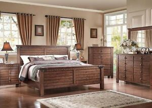 Details about Four Piece Modern Brooklyn Bedroom Set Espresso Finish Queen  Size Bed Furniture