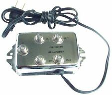 4 Output 10 Db Cable Amp Booster Television TV signal amplifier UHF VHF FM
