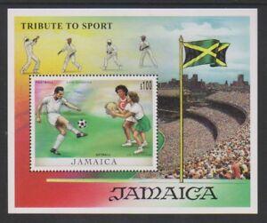 Jamaïque - 1999, Sporting Personnalités Feuille-neuf Sans Charnière-sg Ms942-afficher Le Titre D'origine RéSistance Au Froissement