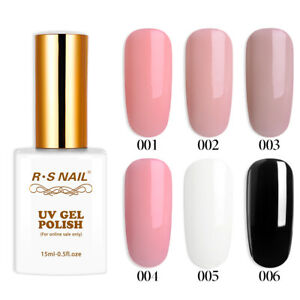 RS Nail 15ml rubber base coat series nude uv color gel