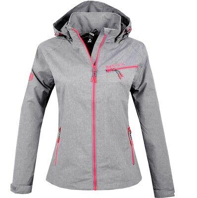 Kjelvik Norway Damen Übergangsjacke Regen Jacke Windjacke S M L XL XXL grau//pink