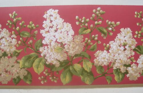 """FLOWERS GARDEN FLORA  Wallpaper Border  6 7//8/"""""""