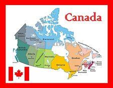 Map of CANADA - Travel Souvenir Fridge MAGNET