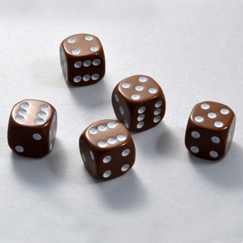 50 Stück 16mm Braune Knobel Würfel / Augen Würfel Spielwürfel von Frobis
