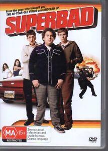 SUPERBAD-DVD-R4-2008-Jonah-Hill-Seth-Rogan-VG-FREE-POST