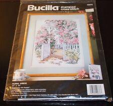 """Bucilla Stamped Cross Stitch Floral Arbor Kit #40676 Erin Dertner 11"""" x 14"""" NEW"""