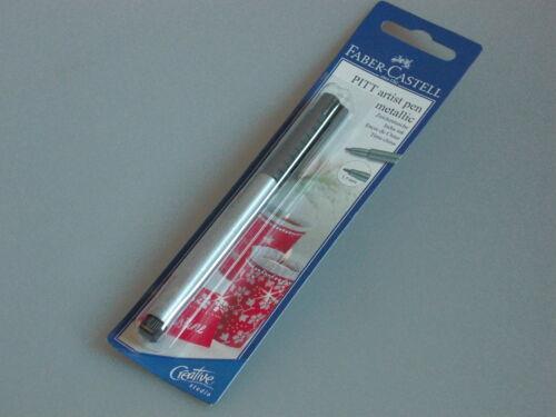 Faber-CASTELL pitt artist pen matallic or argent 1,5 encre pour le dessin plume aussi doppelp.