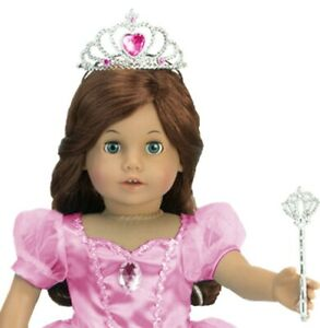 Lot of 2 Doll CROWN TIARA PRINCESS SILVER PINK for American Girl 18 Inch Dolls