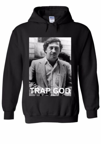 Pablo Escobar trampa Dios droga cocaína Hombres Mujeres Unisex Camisa Sudadera Con Capucha 120E