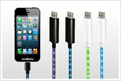 Light Up Charger Cable For iPhone 5 & iPhone 6 *Visible Current Flow* USA Seller