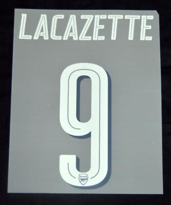 Arsenal Lacazette 9 2018//19 Europa League//FA Cup football shirt Name set home