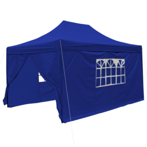 Waterproof 3x4.5M BBQ Party Pop Up Gazebo Canopy Marquee Tent Outdoor Sunshade