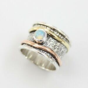 Ethiopian-Opal-Solid-925-Sterling-Silver-Spinner-Ring-Meditation-Ring-S-V1001