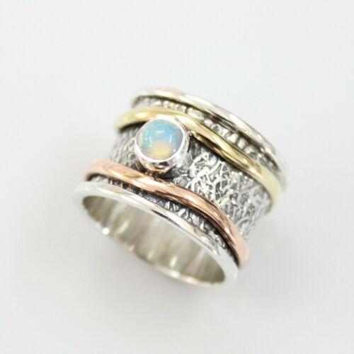 Ethiopian Opal Solid 925 Sterling Silver Spinner Ring Meditation Ring S V1001