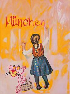 Motiv München Skyline Sommer StreetArt XXL120cmx80cm PopArt//Bild//Leinwand