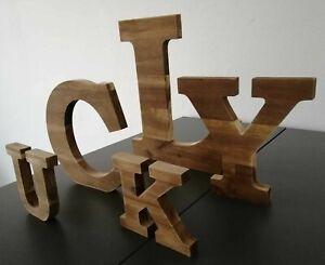 Details zu Buchstaben 3D Echtholz A-Z Deko Schrift Alphabet groß 11,20,30  cm Holz, abc