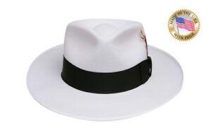 Image Is Loading Shannon Phillips WHITE ZOOT Fedora Hat BLACK BAND